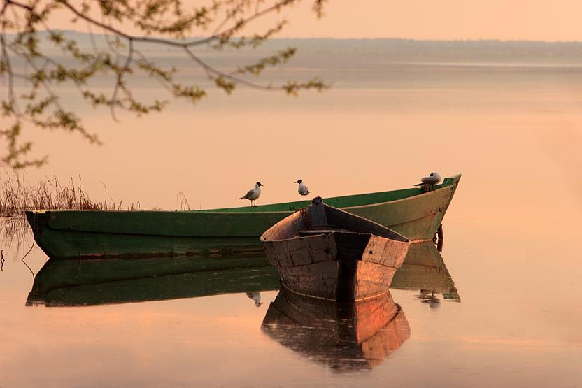 лодка с человеком в картинках